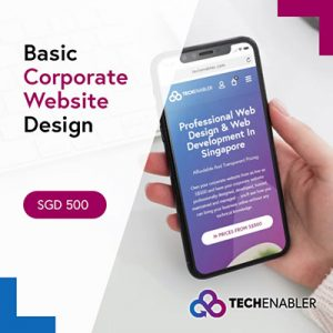 TechEnabler - Basic Corporate Website Design - SGD500